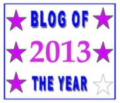 Blog award of the year 2013
